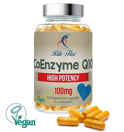 100 mg de CoQ10, 120 comprimidos de Coenzima Q10 por