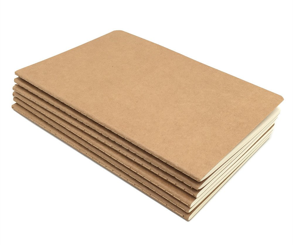 6pcs Travelers' Notebook Thread-bound Journal Diary Memo Pad,A5 Size & 30 sheets(Ruled Pages) by Alimitopia (Image #8)