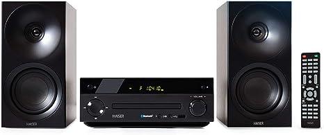 HAISER HSR 118 | 40 vatios RMS con reproductor de CD USB Bluetooth Radio