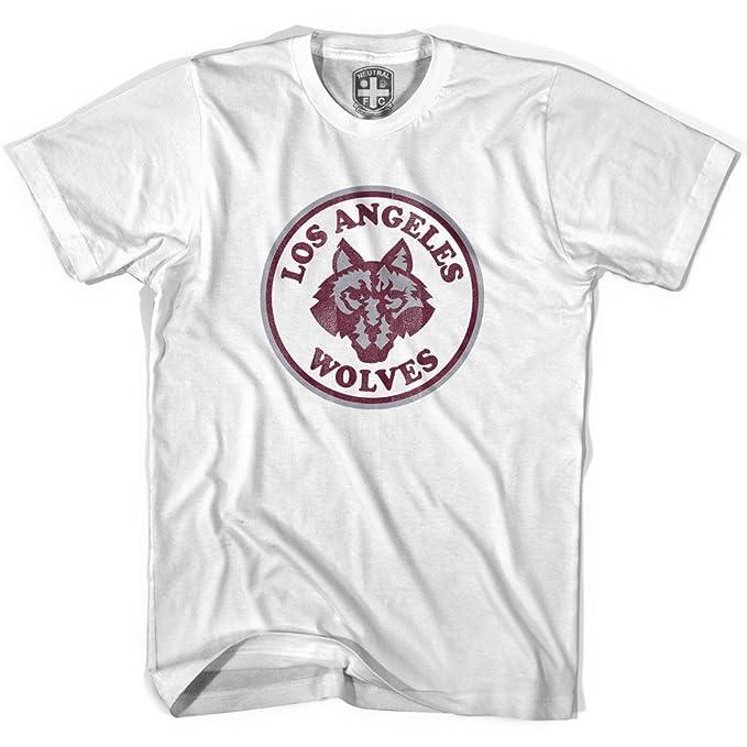 Los Angeles lobos Vintage camiseta de fútbol gris gris small