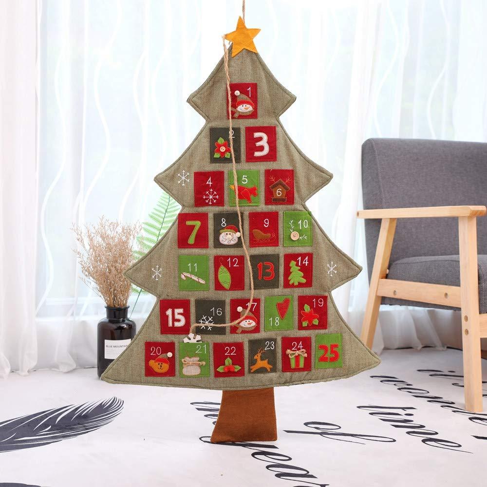 注目ブランド Coohole 33.5X23.6インチ クリスマスツリー型 A 33.5X23.6インチ 壁掛けカレンダー アドベントカウントダウンカレンダー B07JHWHM7T Coohole A, アショログン:0b7cdf68 --- beyonddefeat.com