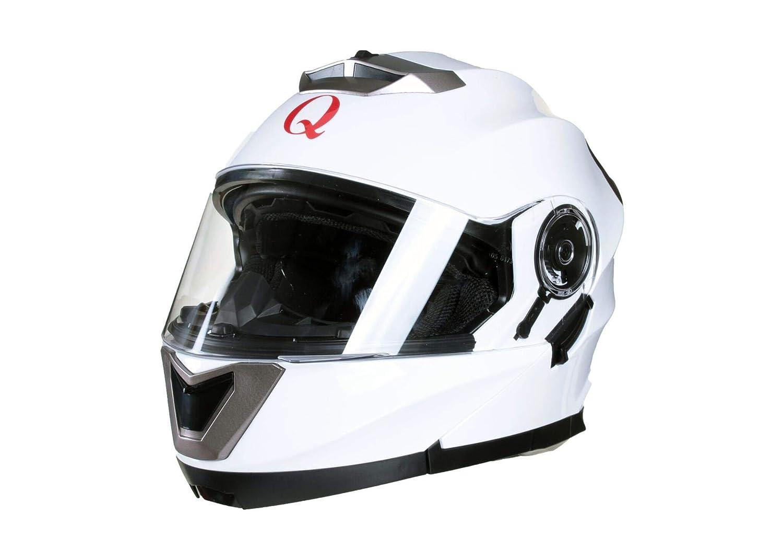 53-54cm XS Rosa Qtech Casco MODULARE per Moto con Integrale Doppia Visiera