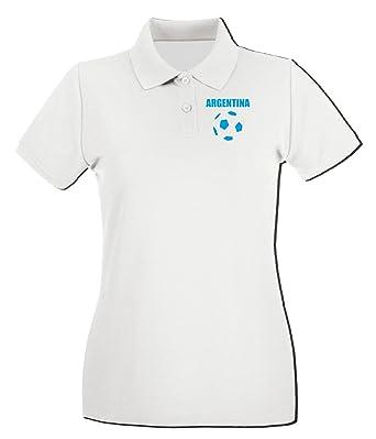 T-Shirtshock - Polo para mujer WC0019 ARGENTINA, Talla L: Amazon ...