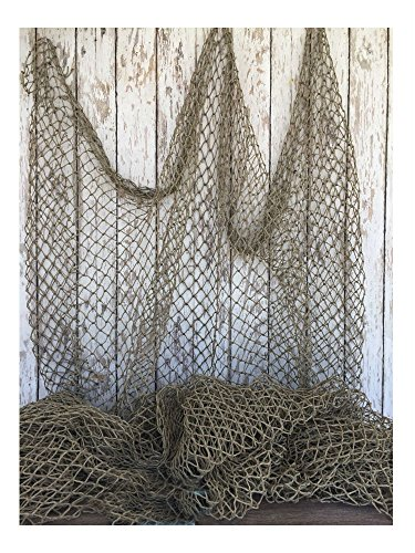 Knotted Nylon Netting - Used Fishing Net 5'x10' ~ Commercial Fish Netting ~ Old Vintage Decor