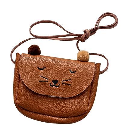 70c00d5d8ef Meiyiu Mini Cute Cat Ear Shoulder Bag Kids All-Match Key Coin Purse Cartoon  Lovely