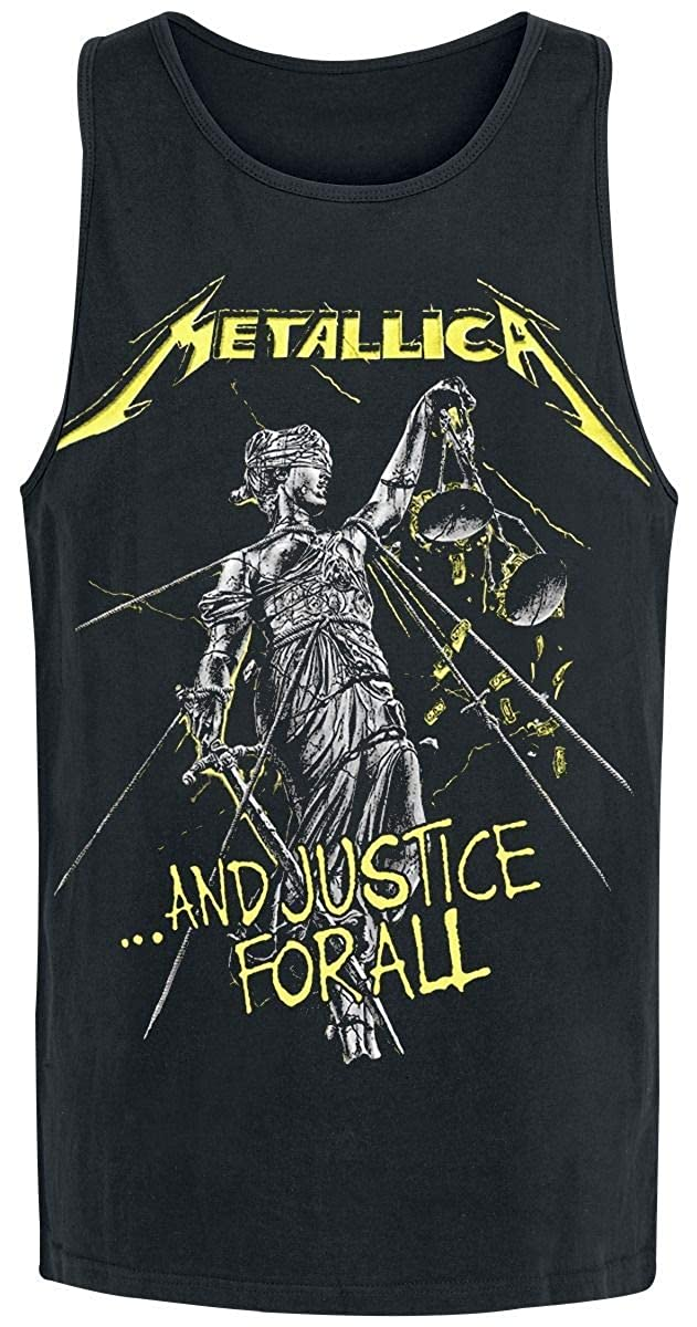 f4d4dc52 Metallica ...and Justice for All Tracks Tanktop Black S: Amazon.co.uk:  Clothing