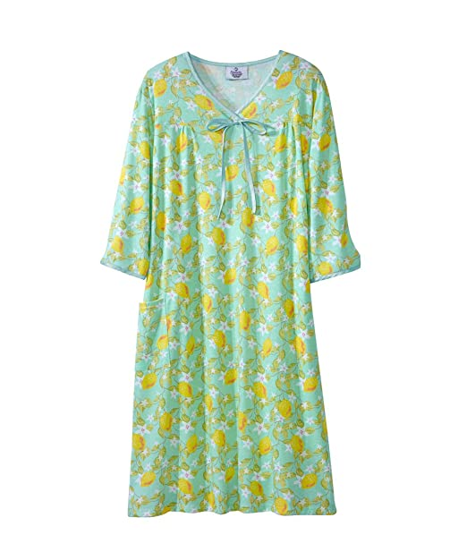 9b2f5c69debd0 Silverts Disabled Elderly Needs Womens Adaptive Hospital Gown Open Back  Regular & Plus Sizes - Lemons