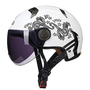 HOEMKUY Caschi Unisex Moto Casco Moto Chopper Casco leggero Moto depoc ...