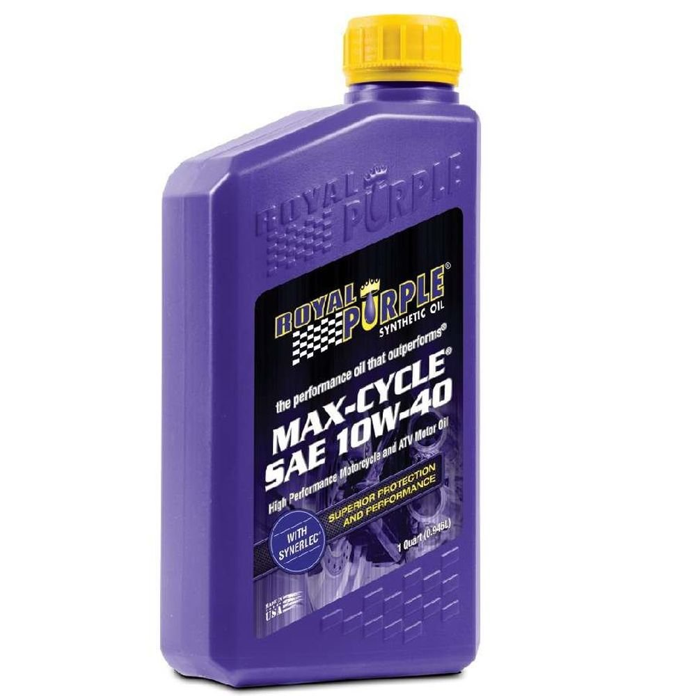 Royal Purple 06315-6PK Max-Cycle 10W-40 High Performance Synthetic Motorcycle Oil - 1 qt. (Case of 6)