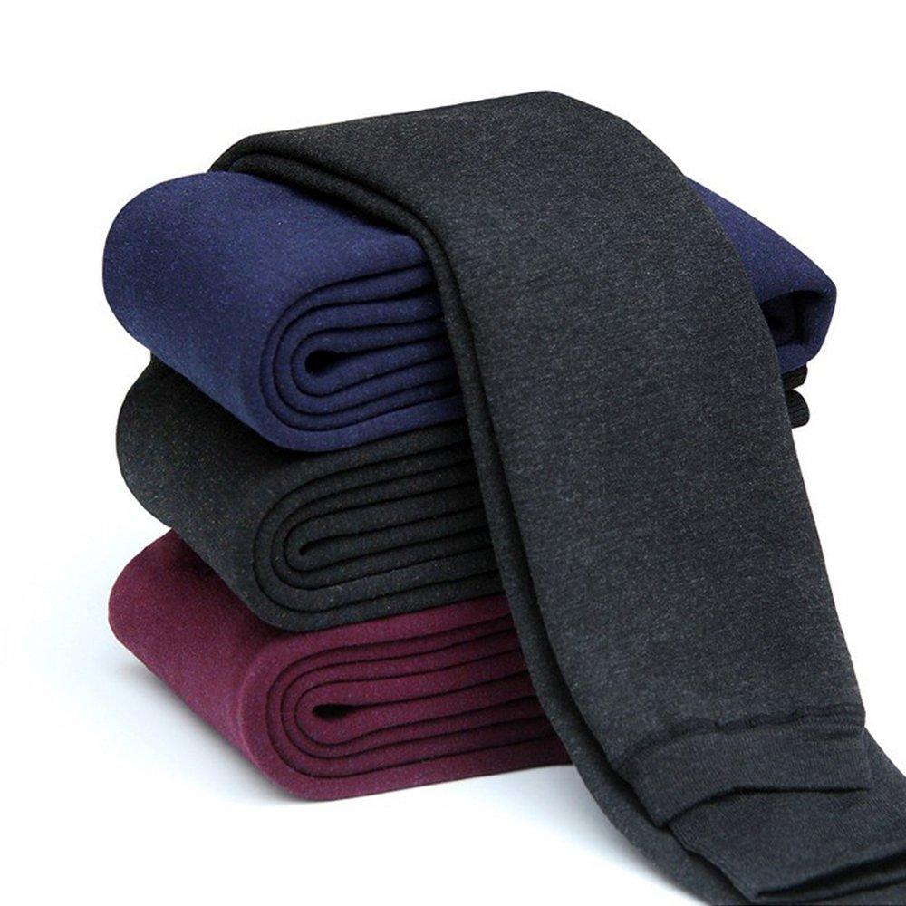 amuybeen Winter Leggings for Girls Thickened Velvet Kids Pants Black 2-12