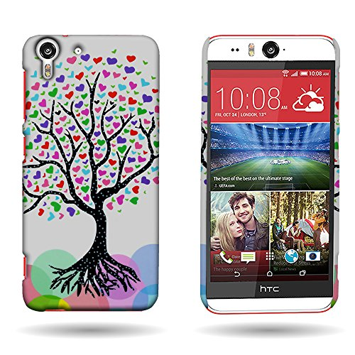 HTC Desire Eye Case, CoverON® [SLIM FIT] Protective Snap On Cover Customized Design for HTC Desire Eye - Love Tree