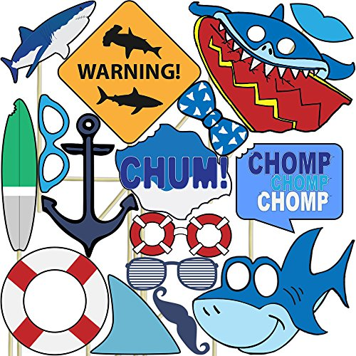 unique ocean shark party supplies - 5