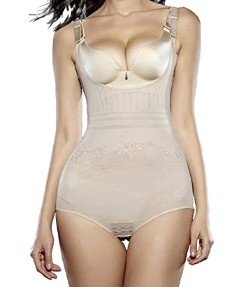 3f5845fff6 FLORATA Women Body Shaper Waist Trainer Shaper Underbust Corset Cincher  Shapewear at Amazon Women s Clothing store