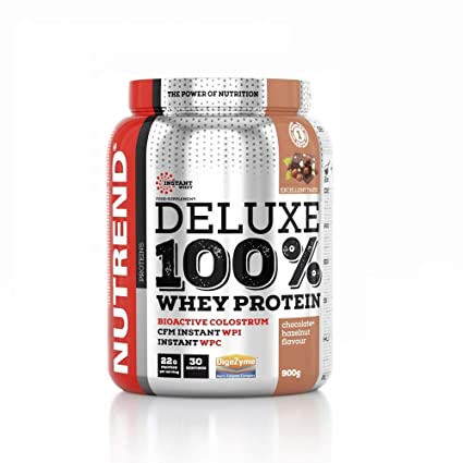 De proteína de suero Deluxe 100% en Nutrend Sabor chocolate ...