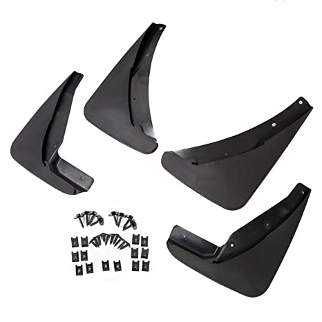 Red Hound Auto Premium Heavy Duty Molded 2015-2019 Compatible with Dodge Challenger Mud Flaps Mud Guards Splash Front Rear Molded 4pc Set