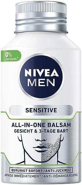 Bálsamo facial y barba de 3 días Nivea Men Sensitive All-In ...