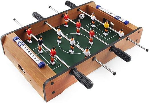 Laishutin Futbolín Adultos y niños de sobremesa Portátil recreativo Mano Fútbol de la Tabla Fútbol Foosball Tableros de fútbol de fútbol de Mesa Mini futbolín Apto para Interiores o al Aire Libre: