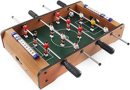 Yaunli Fútbol Foosball Tabla Tableros de futbolín fútbol Mini ...