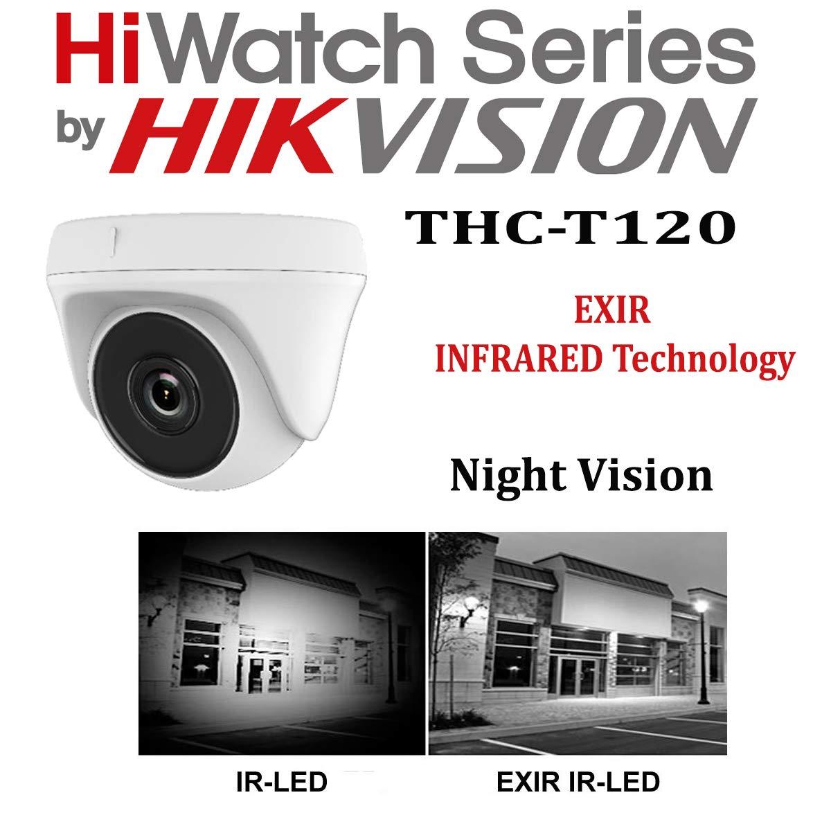 Hikvision CCTV Kit DVR de 8 canales 1080P & 6 x Sony 2,4 MP CMOS TVI 1080P Full HD gris dome CCTV cámaras IR 20 m visión nocturna a distancia vista fácil ...