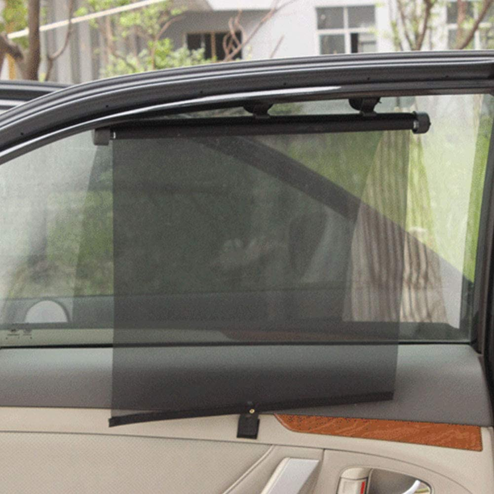 Roller Blinds With Suction Cups Car Window Mesh Automatic Retractable No drilling 1 pair Black,40 * 45cm 1 pair GCDN Universal Car Side Window Roller Blind Screen Sunshades Protector