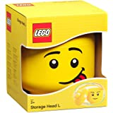 LEGO Storage Head, Large, Silly, 9-1/2 x 9-1/2 x 10-3/4 Inches, Yellow