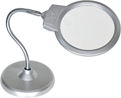Magnifying Glass with Light and Stand
