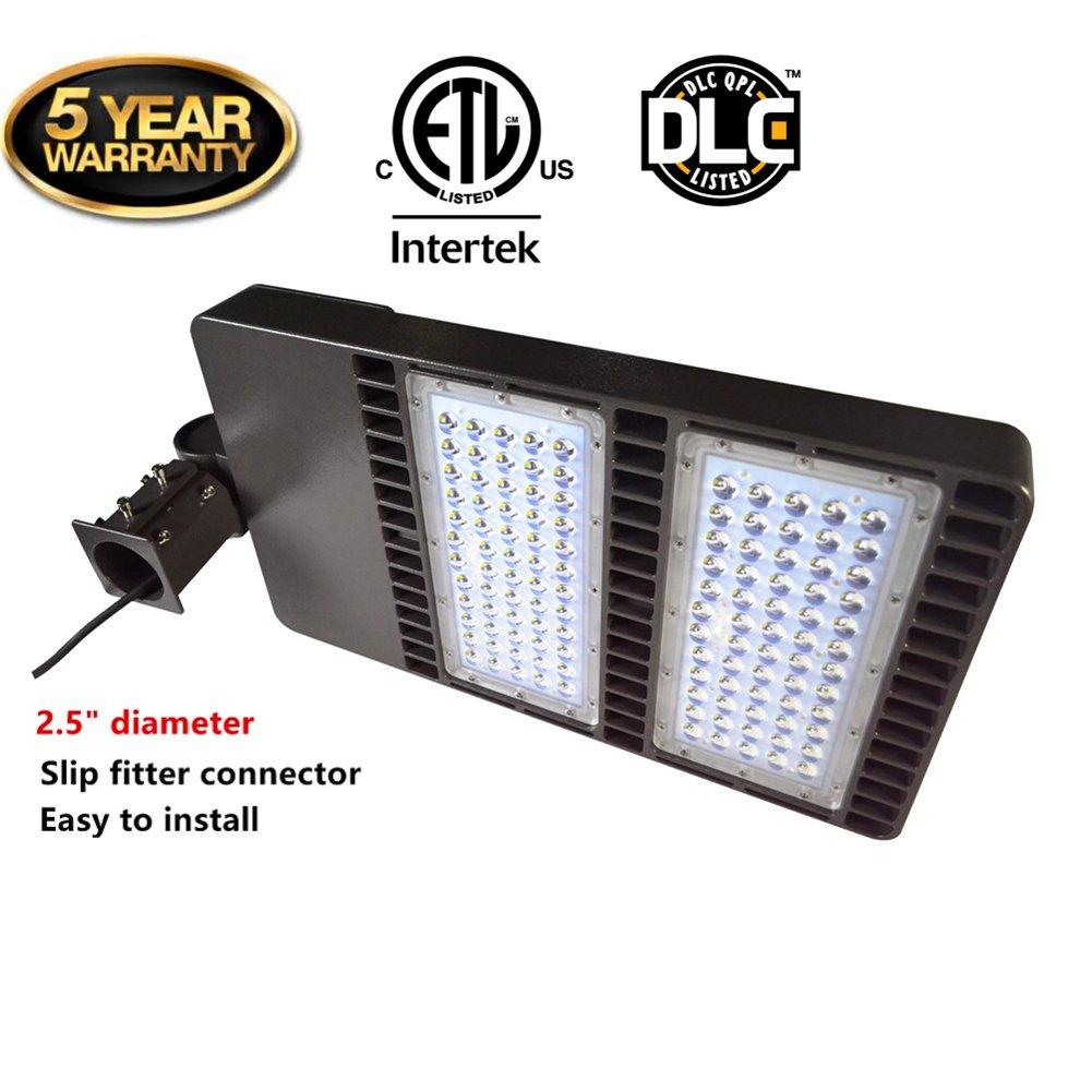LED Shoebox照明駐車場ライトfor 200 W TO 1000 W HID交換用ac100 – 277 V Over 100lm perワットip65防水forラウンドポールStreet、ガーデンパス、駐車場で濡れアプリケーション 300W ブラウン B074T2VK3Y