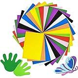 30 Pcs Colorful EVA Foam Sheets Assorted Rainbow Colors Craft Foam Sheets,Foam Handicraft Sheets for Arts and DIY…