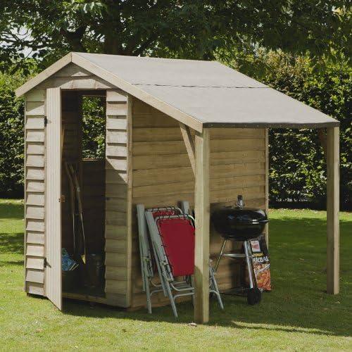 Garden Central - Caseta de madera solapada tratada a presión (1 ...