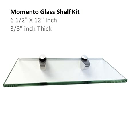 Fab Glass and Mirror SH-MOMT6 Momento Glass Shelf, 6.5 X12 inch, Clear