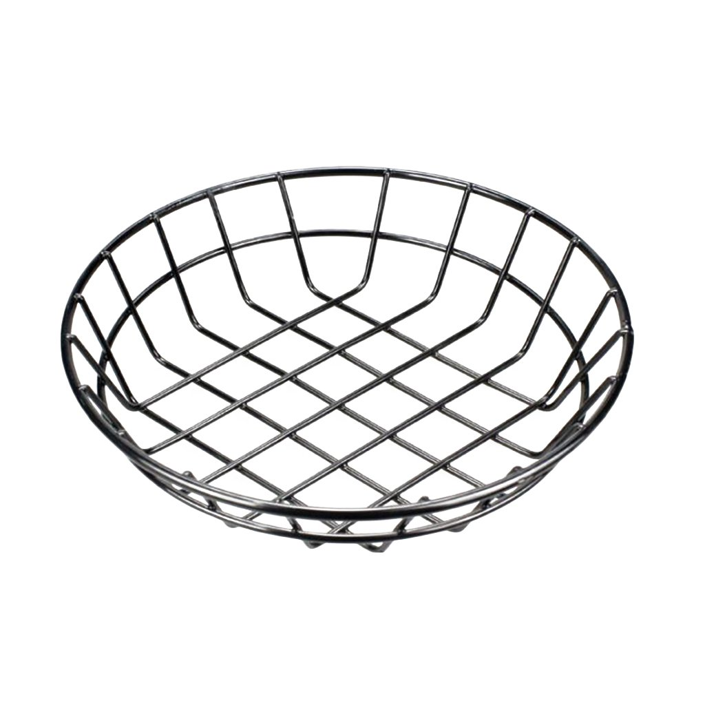 Fityle 8-Inch Round Bread Roll Baskets, Food Serving Basket, Restaurant Quality, Set of 5 | with 200pcs Grease Resistant Sheets