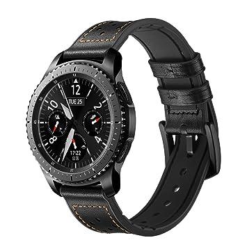 TopTen - Correa de Repuesto de Piel auténtica para Reloj Samsung ...