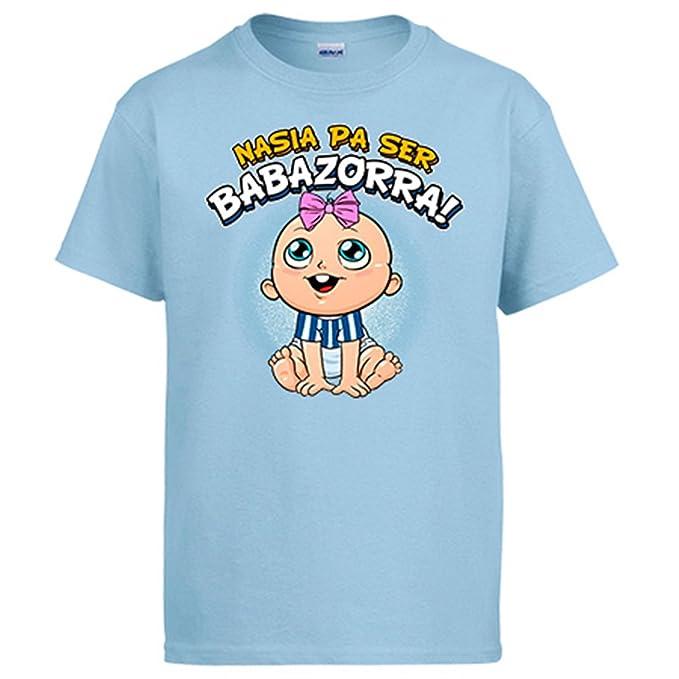 Diver Camisetas Camiseta Nacida para ser Babazorra Alavés fútbol: Amazon.es: Ropa y accesorios