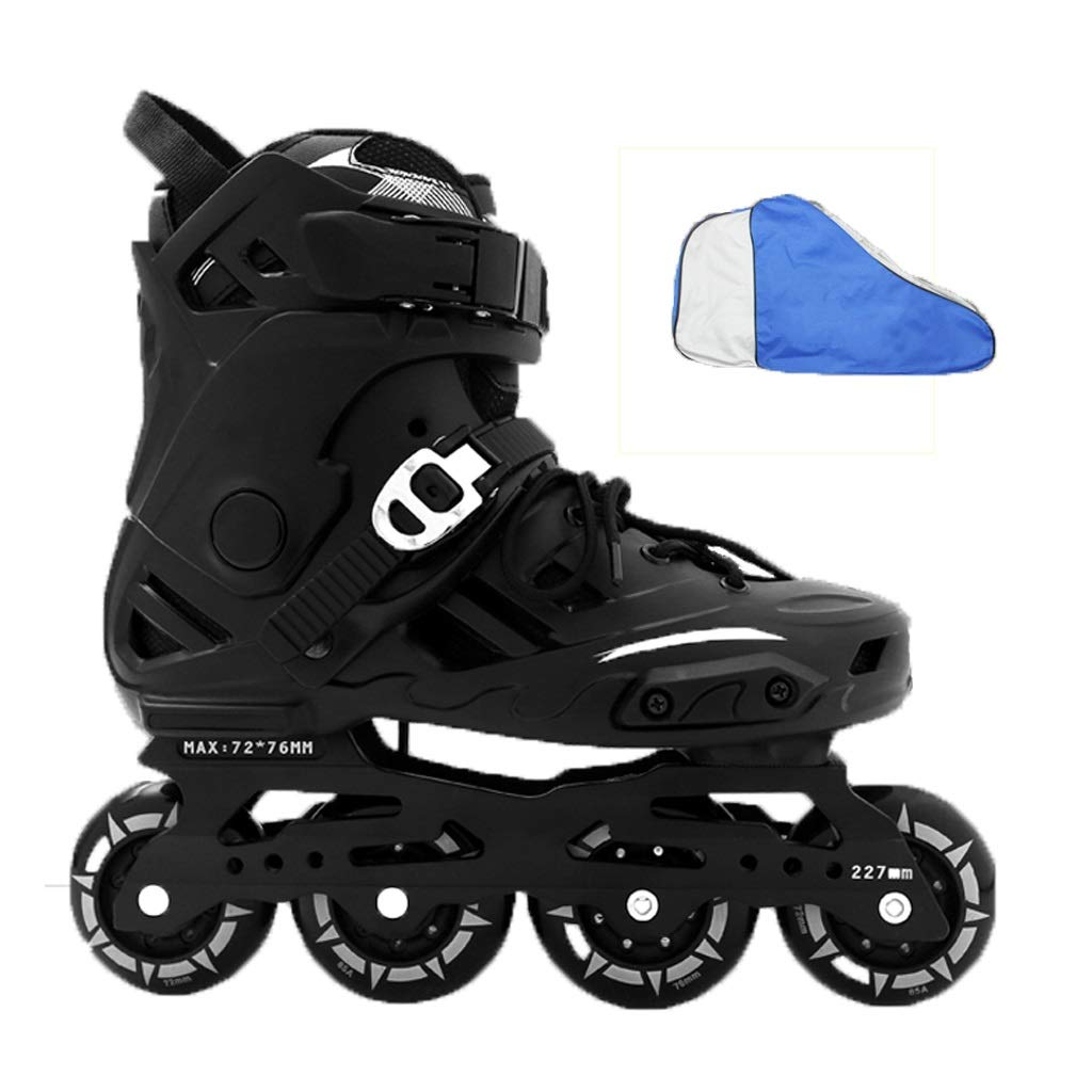 YANGXIAOYU ローラースケート、ローラースケートの女の子ローラースケートのスーツ紫黒白大人10代の若者に適してフルフラッシュホイール B07QW7B857 36|ブラック ブラック 36