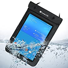 SumacLife Waterproof Pouch Dry Bag for Samsung Galaxy Tab 3 4 8.0inch Tablets / Samsung Galaxy Note 8.0 and other 8.0inch Tablets (Black)