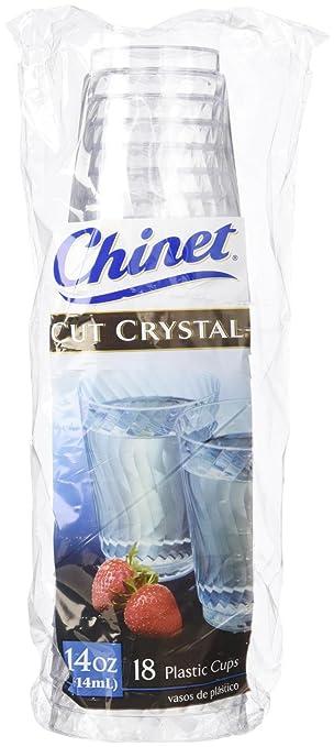 Amazon Com Chinet Cut Crystal Cup 14 Oz 18 Ct Health