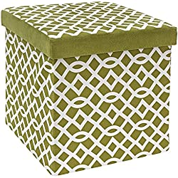 Round or Square Folding Storage Ottoman - 30+ Colors