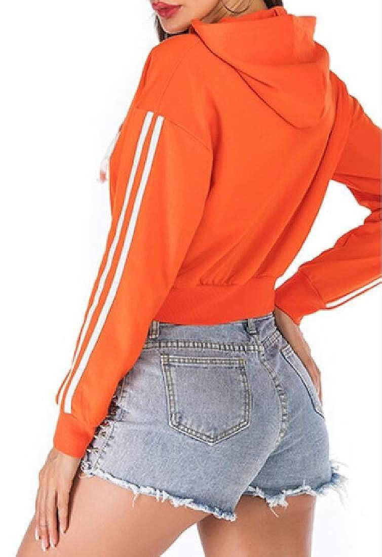 pipigo Womens Cardigan Long Sleeve Slim Fit Zipper Casual Hooded Sweatshirt Jacket Coat