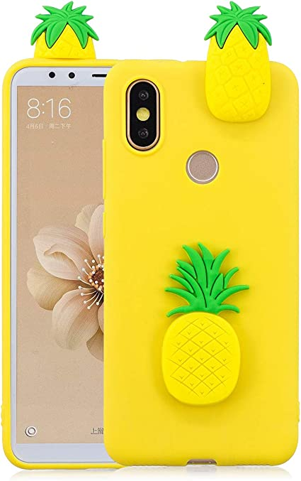 WUBAOUK compatibile con Cover Huawei Y6 2019 - Silicone Ananas 3D ...