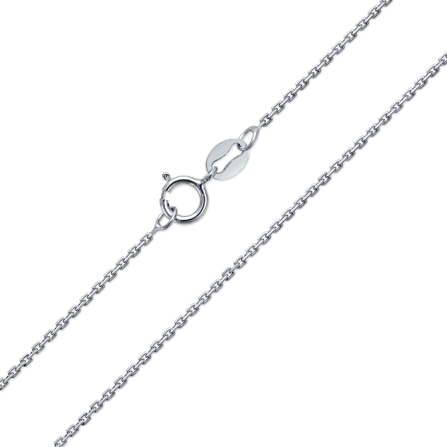 Best Birthday Gift Sterling Silver Rhodium-plated 1.7mm Diamond-cut Rope Chain