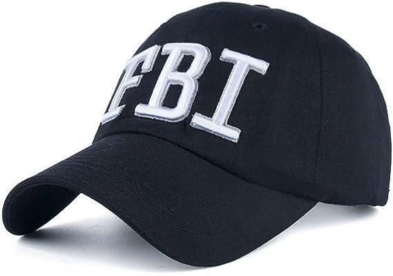 Amazon.com: AKIZON FBI Hat Women Official - FBI Hats for Men - FBI Agent Hat - FBI Baseball Cap, Black: Sports & Outdoors