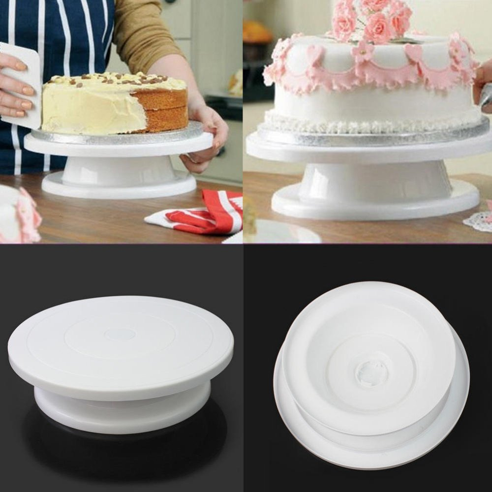 Round Rotating Revolving Cake Turntable Decorating Stand Platform