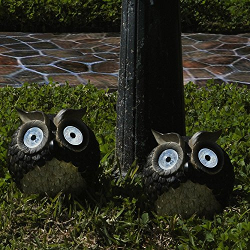 STI Smart Solar Inc. STI3586WRM2 Solar Owl Accent (Set of 2)