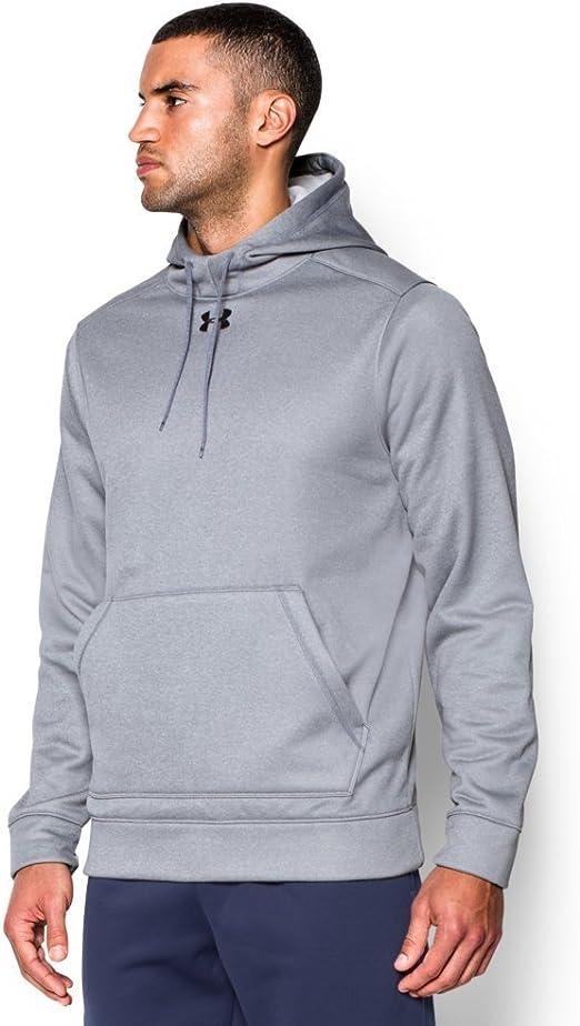 Under Armour Men/'s Steel Gray UA Storm Armour Fleece empilés Pullover Sweat à capuche