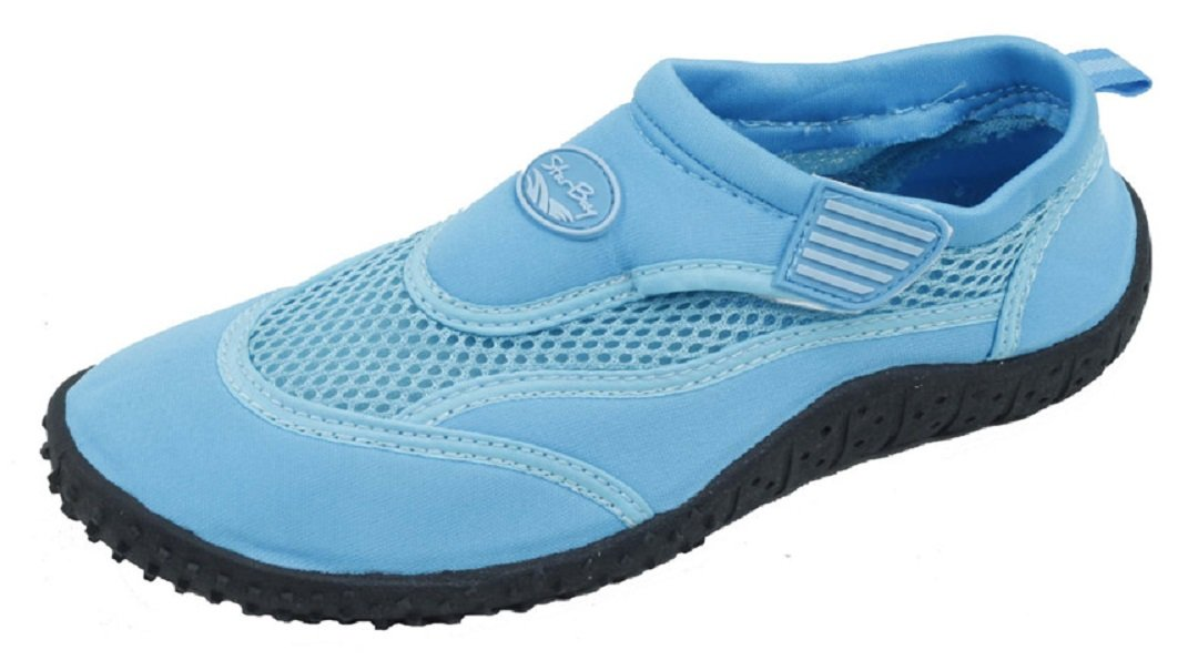 Starbay Women's Slip-On Water Shoes with Velcro Strap Size 6 Blue