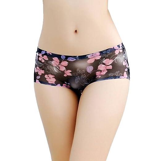 Xiang Ru Flower Pattern Seamless Briefs Panties Lingerie Underwear For Women  Black c568f705d