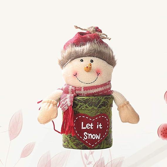 Amosfun caja de galletas de navidad tarro contenedores de ...