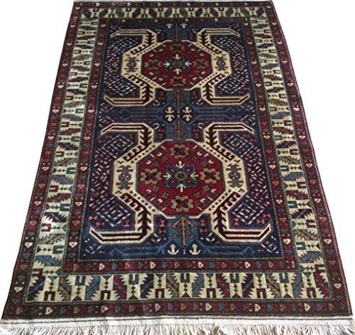 Vintage Handwoven Area Rug Carpet 6.32 x 3.90 ft.