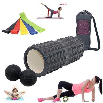 Rodillo de espuma - Columna de yoga - Bola de fascia - Banda ...