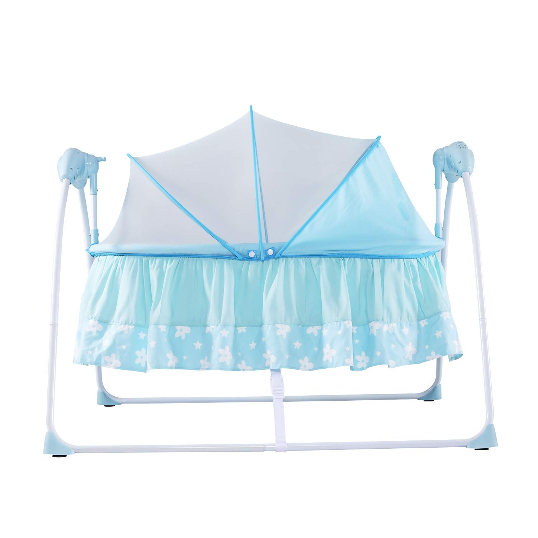 Kinbor Baby Portable Bassinet Cradle Auto Rocking Chair Newborns Bassinets Sleep Bed Rocking Music Sleeping Basket Bed Newborns Sway Baby Swing by Kinbor Baby